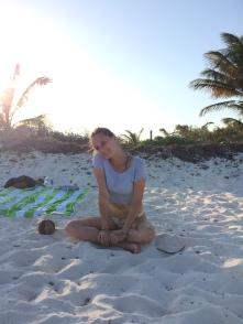 Sundown on Tulum beach