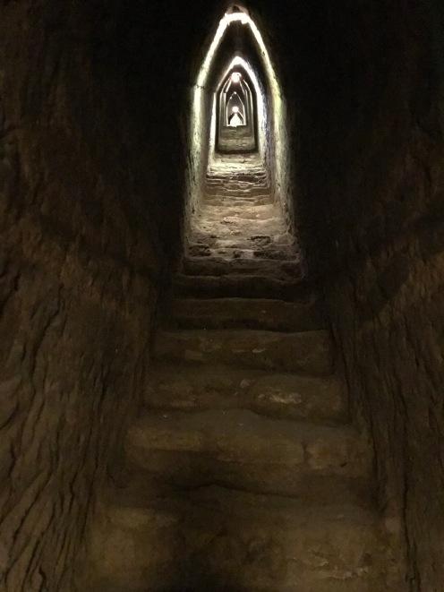 Pyramid's underground tunnel