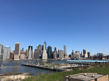 View over Manhattan from Brooklyn Heights